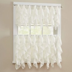 Elegant Kitchen Curtains Valances Danze Faucets Sweet Home Collection Sheer Voile Vertical Ruffle