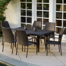 Mercury Row Panos 7 Piece Outdoor Dining Set &