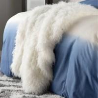 Mercury Row Mountain Sheepskin Faux Fur Throw & Reviews ...