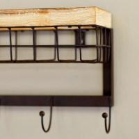 Mercury Row Modern 4 Hook Wall Rack with Basket & Reviews ...