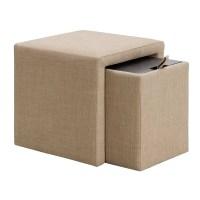 Mercury Row Shumway Storage Cube Ottoman & Reviews | Wayfair