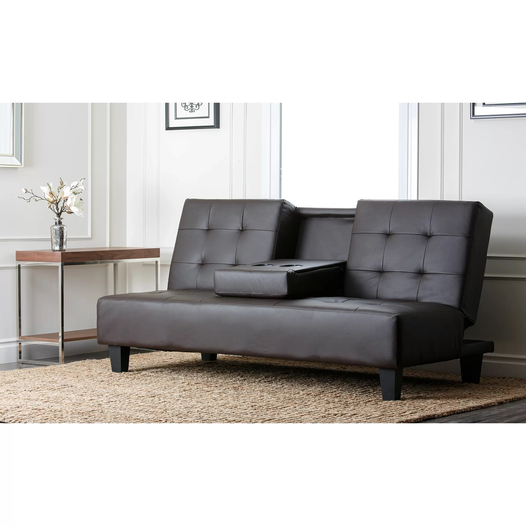 furniture row sofa sleepers maze rattan kingston corner dining set mercury bernal sleeper and reviews wayfair