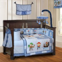Babyfad Pirates Baby 10 Piece Crib Bedding Set