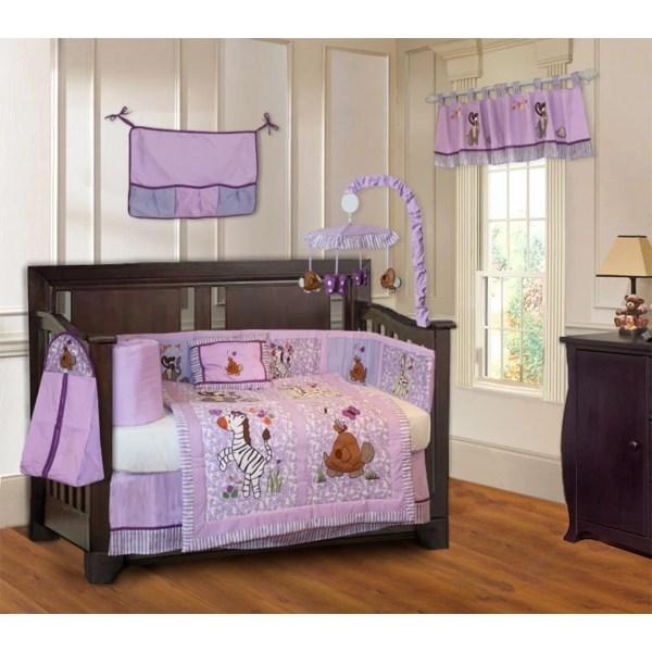 Babyfad Jungle Animal 10 Piece Crib Bedding Set &