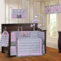 Babyfad Elephant Zigzag 10 Piece Crib Bedding Set ...
