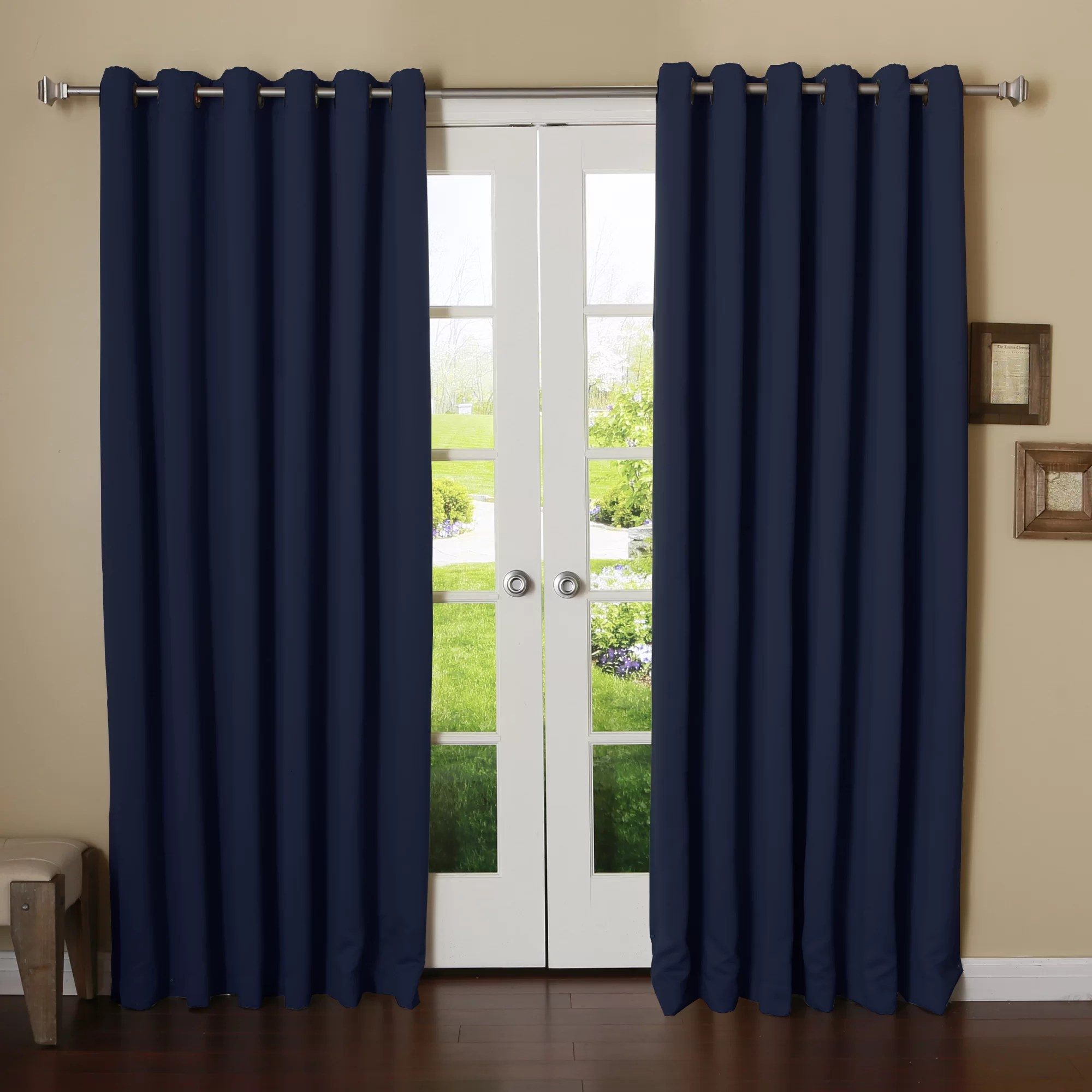 Best Home Fashion Inc Extra Wide Width Thermal Blackout Single Curtain Panel  Reviews  Wayfair
