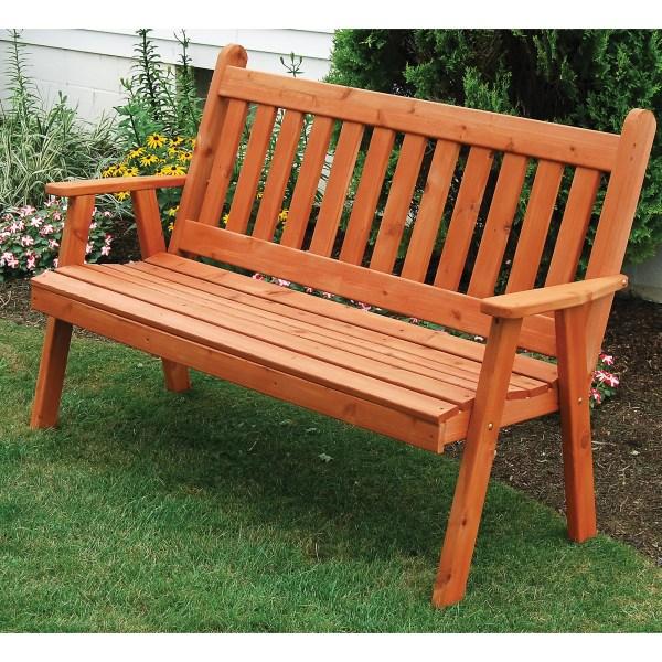 &l Furniture English Wood Garden Bench