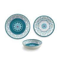 TarHong Moroccan Medallion 12 Piece Dinnerware Set ...