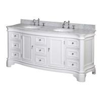 KBC Katherine 72-inch Bathroom Vanity Set (Carrara/White ...