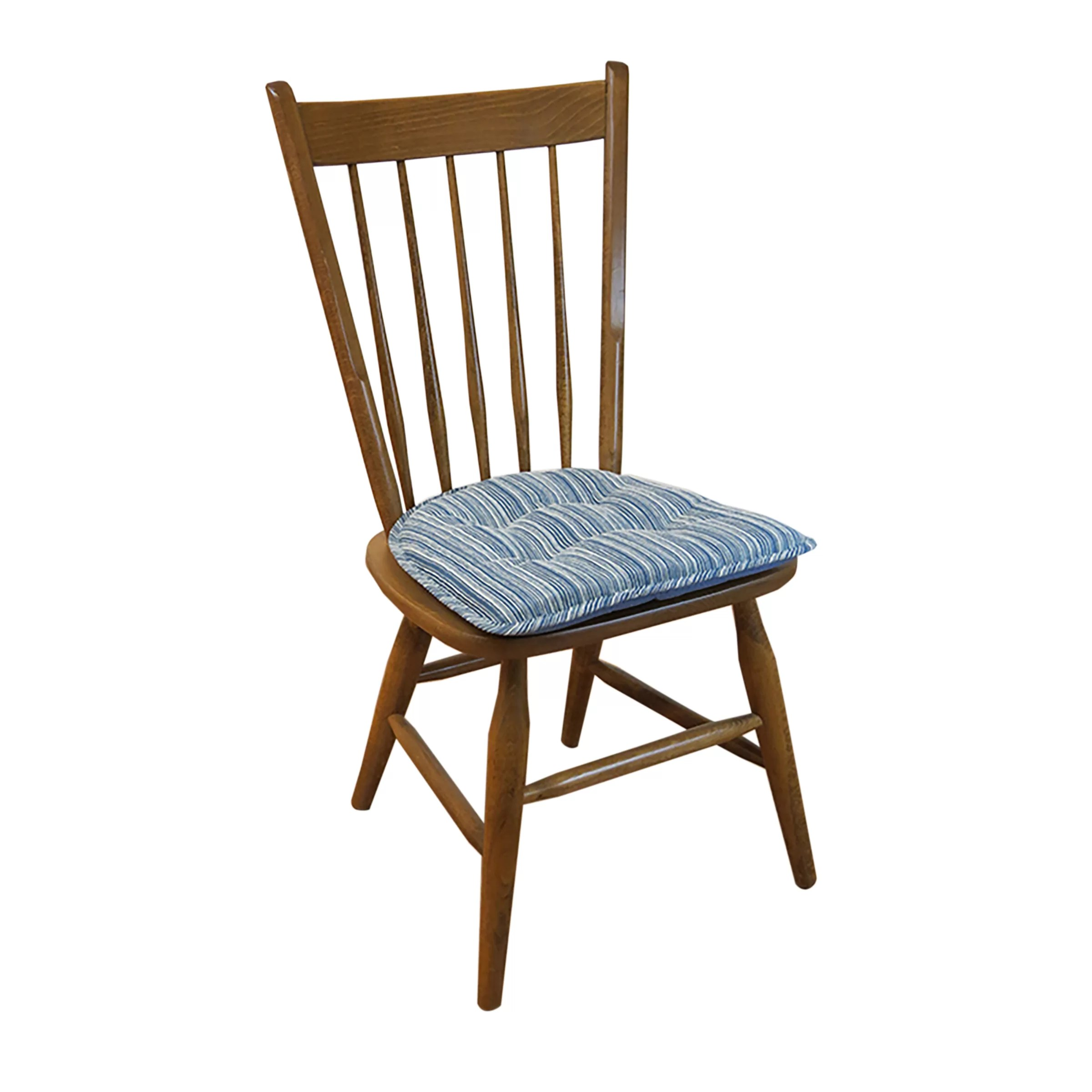 cushions for dining room chairs slipper ikea klear vu sophia stripe chair cushion and reviews