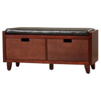 Red Barrel Studio Leather Storage Entryway Bench & Reviews