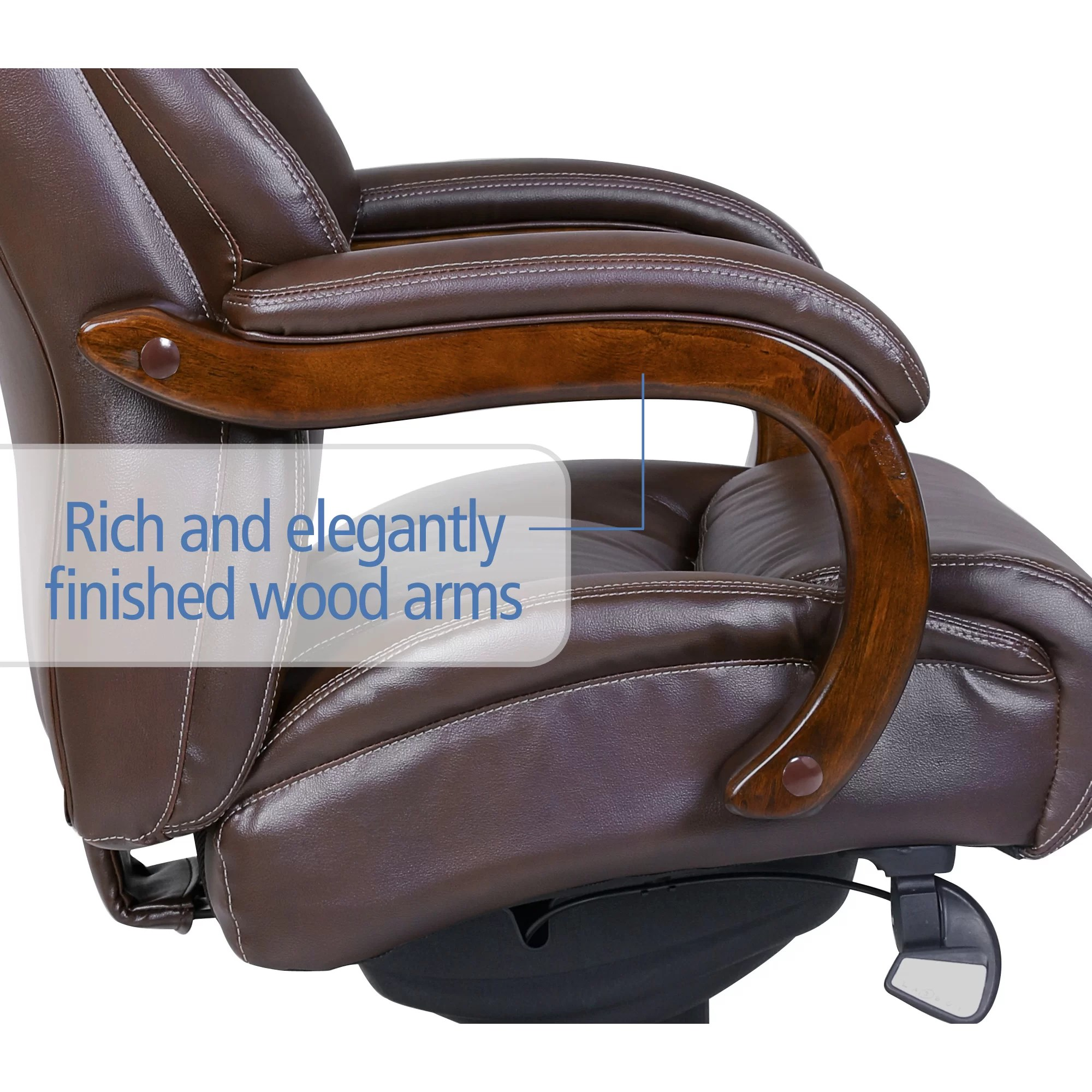 la z boy delano big and tall executive office chair chestnut massage sale high back reviews