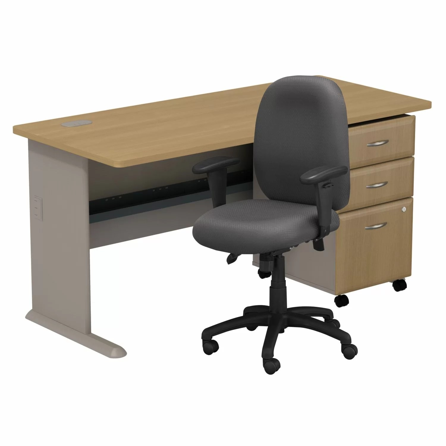 Business Chair Bush Business Furniture Series A Computer Desk With 3
