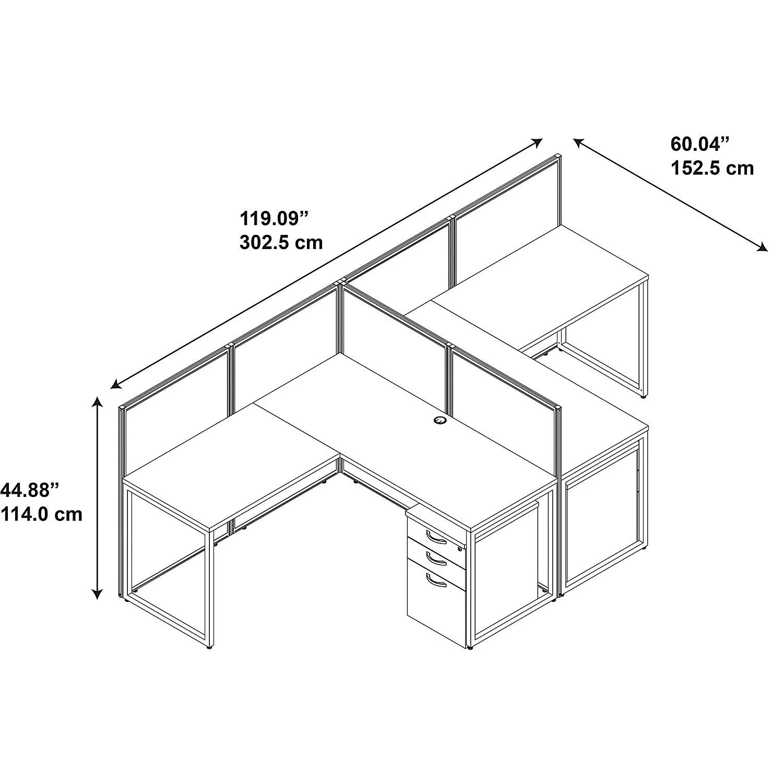 Bush Business Furniture Easy Office L Shape Desk Open