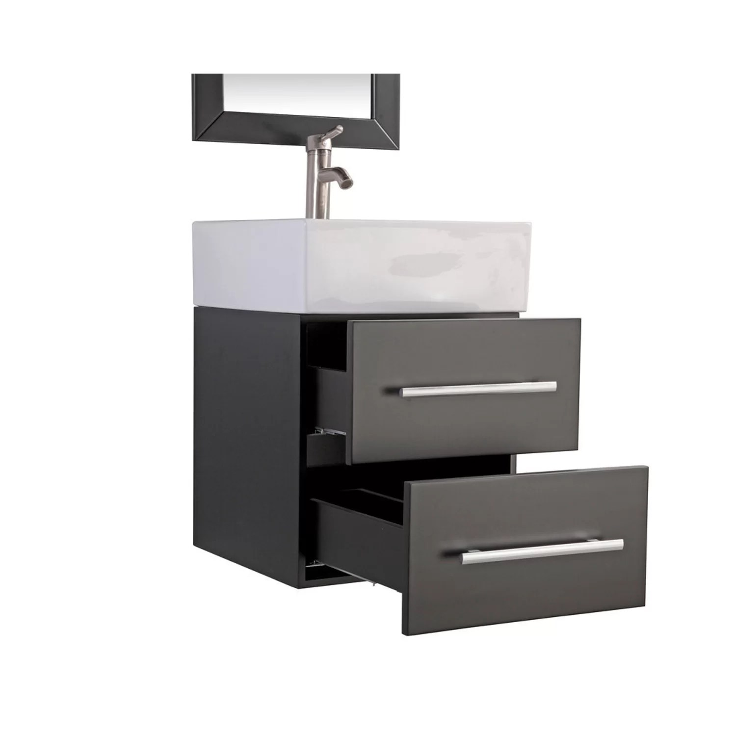 "MTDVanities Nepal 18"" Single Sink Wall Mounted Bathroom"