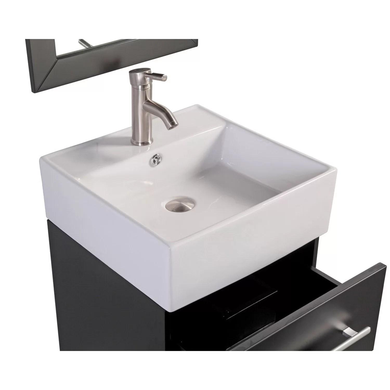 MTDVanities Nepal 18 Single Sink Wall Mounted Bathroom