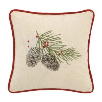 Laurel and Mayfair Winter Bird Embroidered Cotton Throw