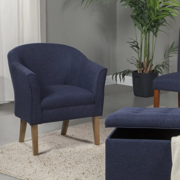 Homepop Upholstered Barrel Chair &