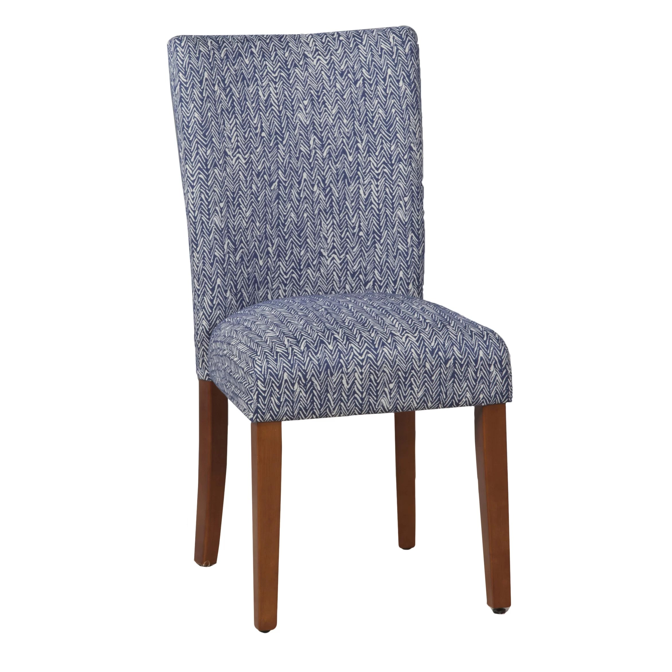 Parson Chair Homepop Upholstered Parsons Chair In Blue And Reviews Wayfair