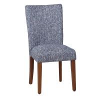 HomePop Upholstered Parsons Chair in Blue & Reviews | Wayfair