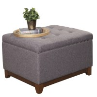 HomePop Upholstered Storage Cocktail Ottoman & Reviews ...