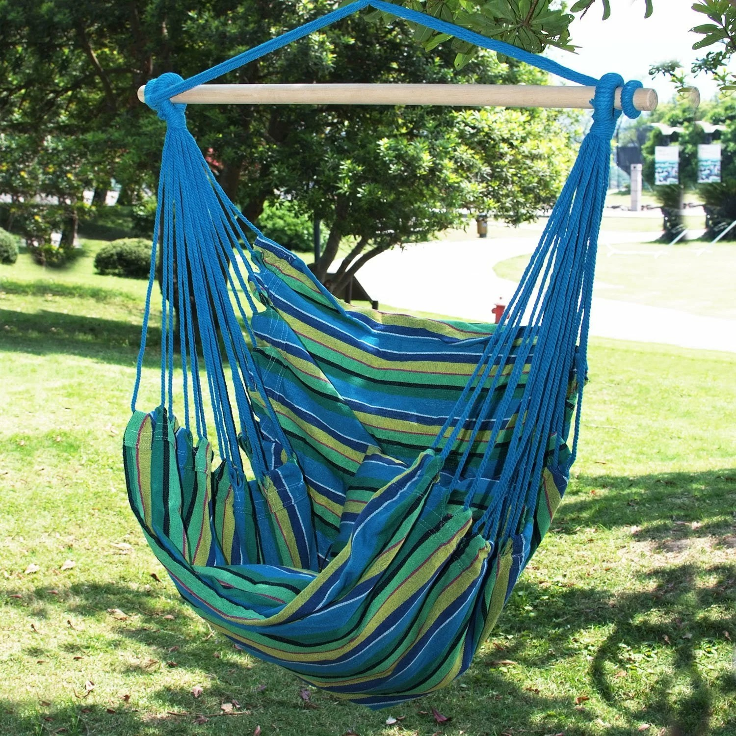 tree hanging hammock chair jehs laub lounge adecotrading naval cotton fabric canvas
