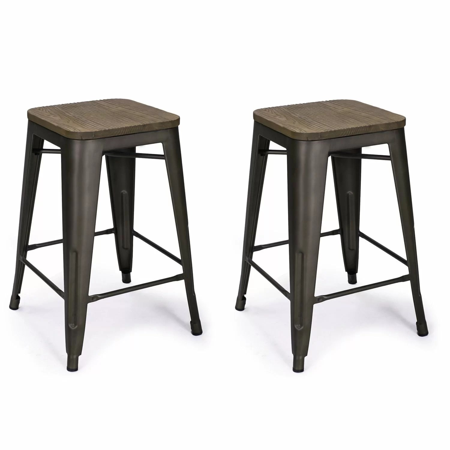 Bar Chair Adecotrading 24 Quot Bar Stool And Reviews Wayfair