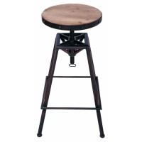 AdecoTrading Adjustable Height Swivel Bar Stool | Wayfair