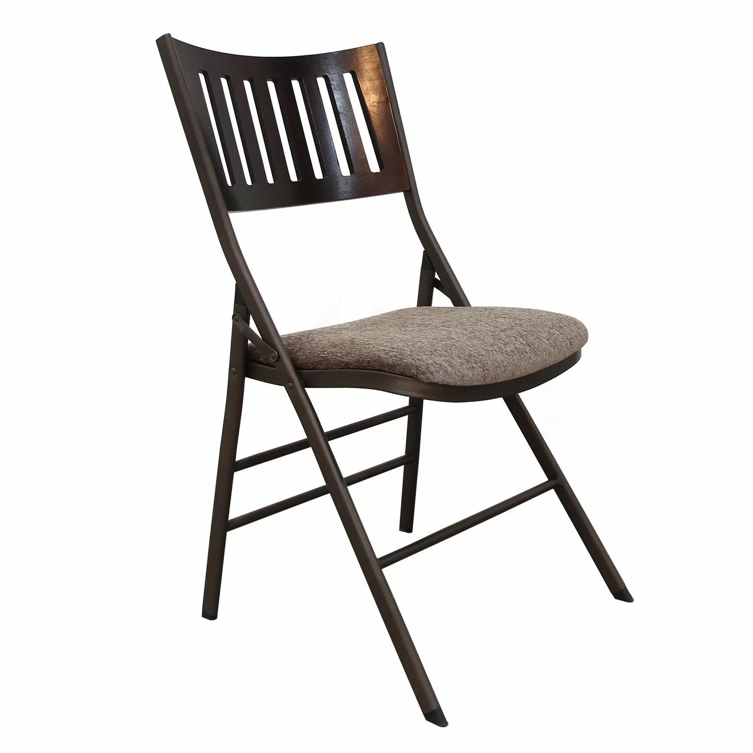 Fabric Folding Chairs Adecotrading Tubular Steel Folding Chair And Reviews Wayfair