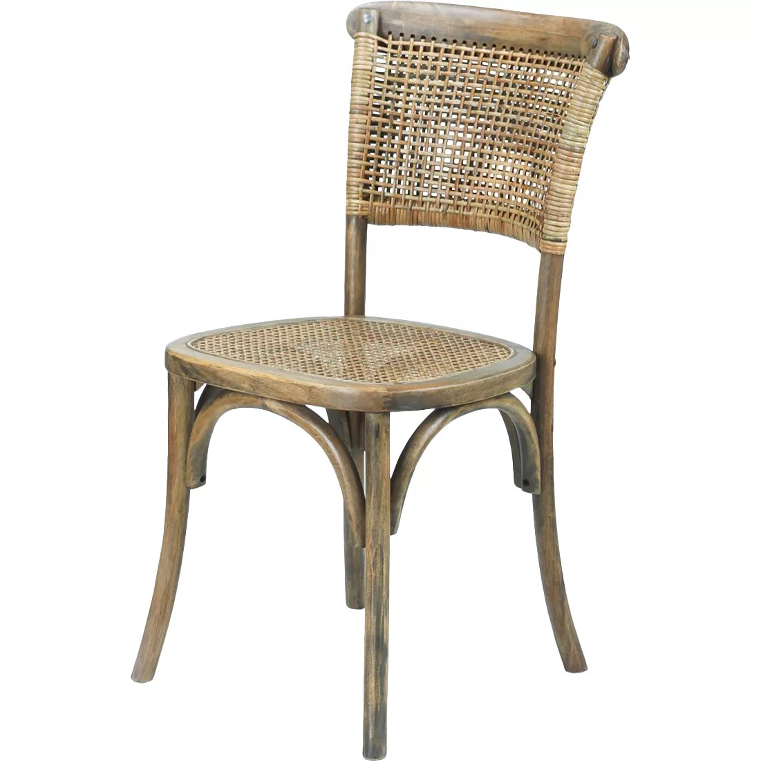 Cane Dining Chairs Adecotrading Dining Cane Side Chair And Reviews Wayfair