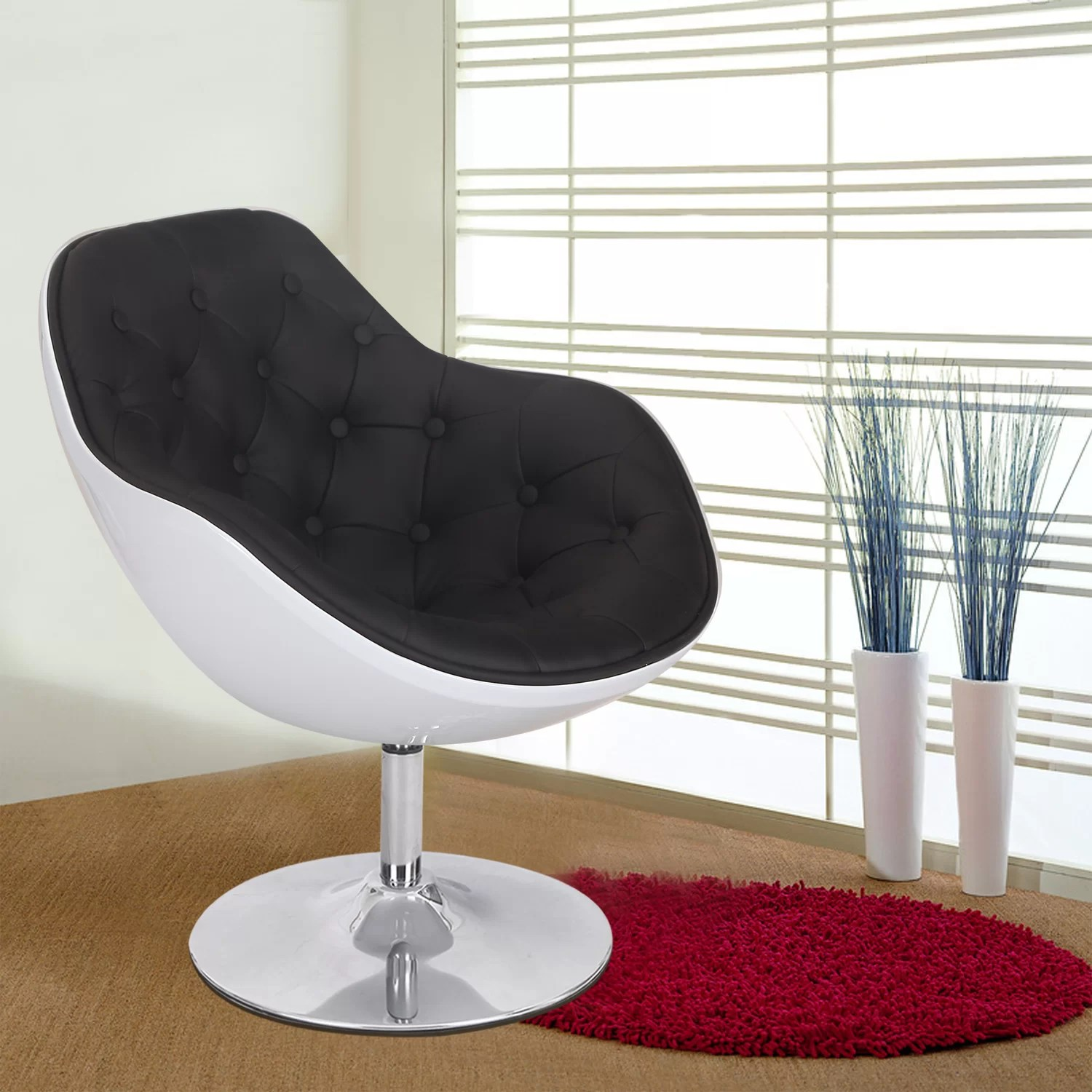 Egg Shaped Chairs Adecotrading Egg Shaped Leisure Arm Chair Wayfair
