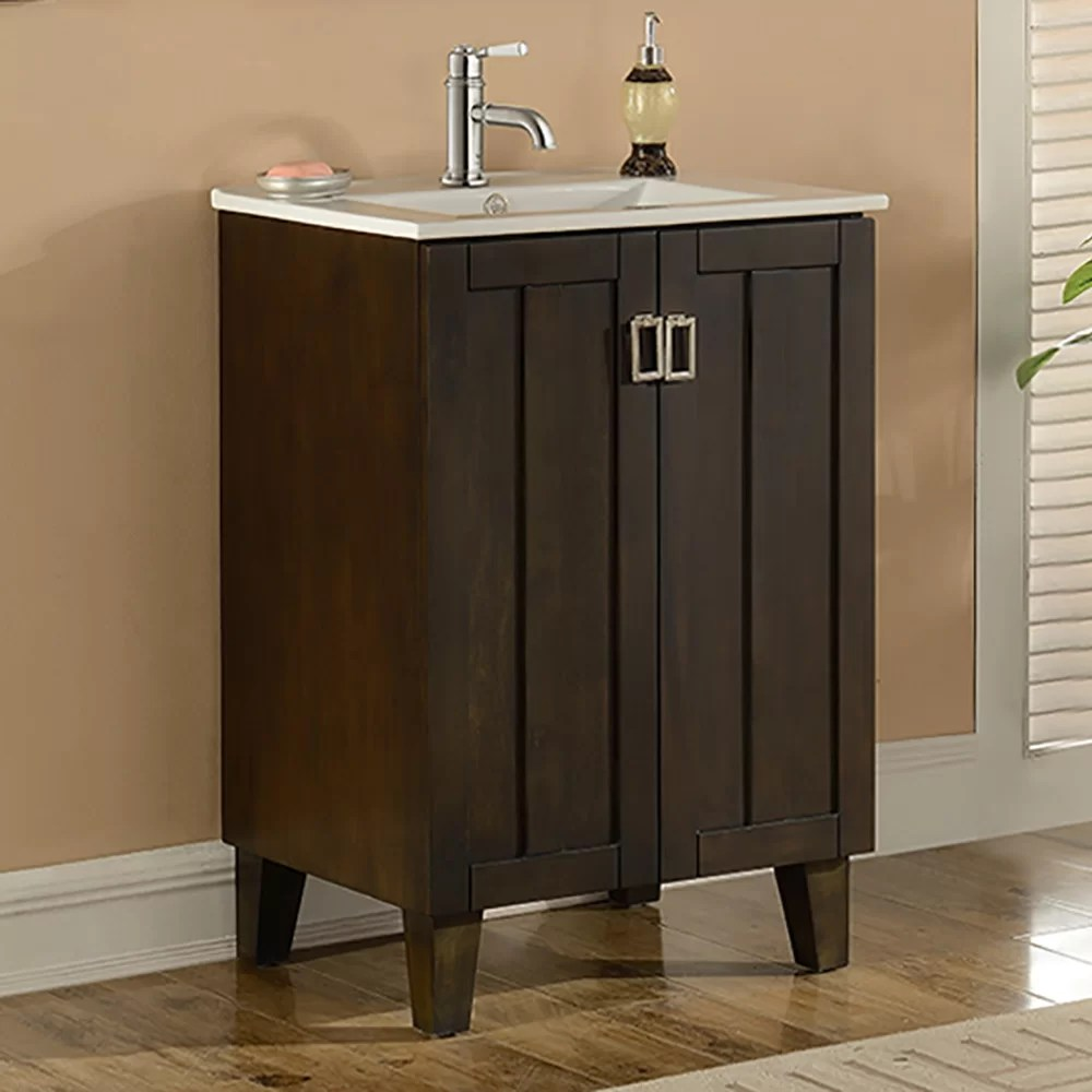 InFurniture IN 32 Series 24 Single Sink Bathroom Vanity