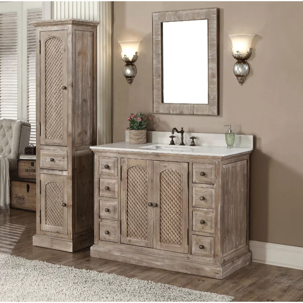 InFurniture WK Series 49 Single Bathroom Vanity Set with