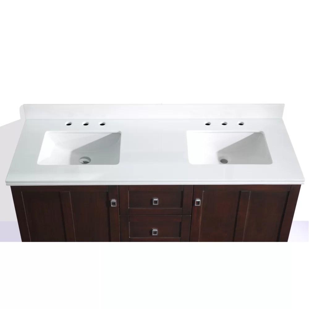 InFurniture 60 Double Sink Bathroom Vanity Set  Wayfair