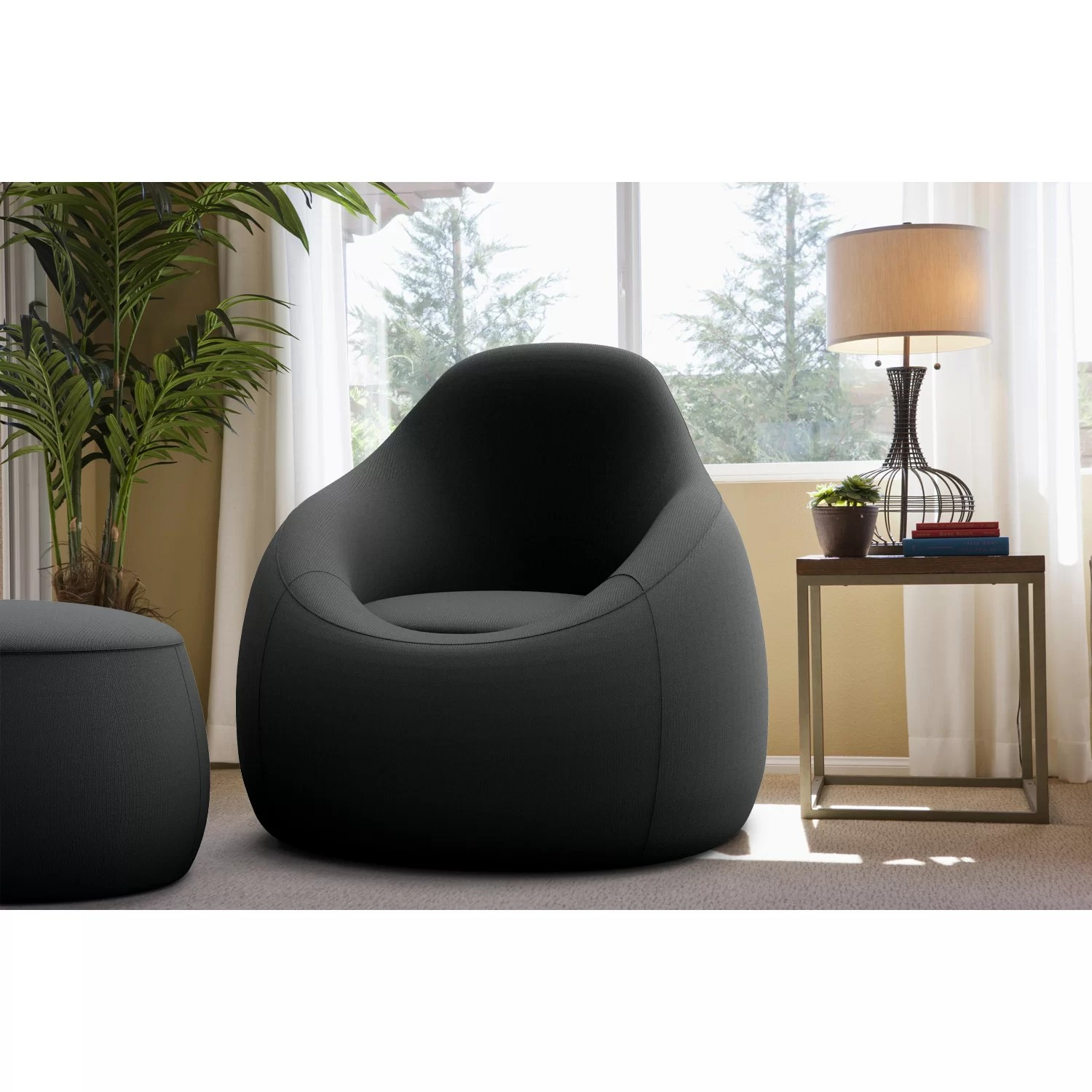 OMO Modern Memory Foam Lounge Chair with Ottoman  Reviews