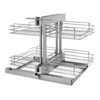 Rev-A-Shelf Corner Cabinet Pull-Out Chrome 2-Tier Basket ...