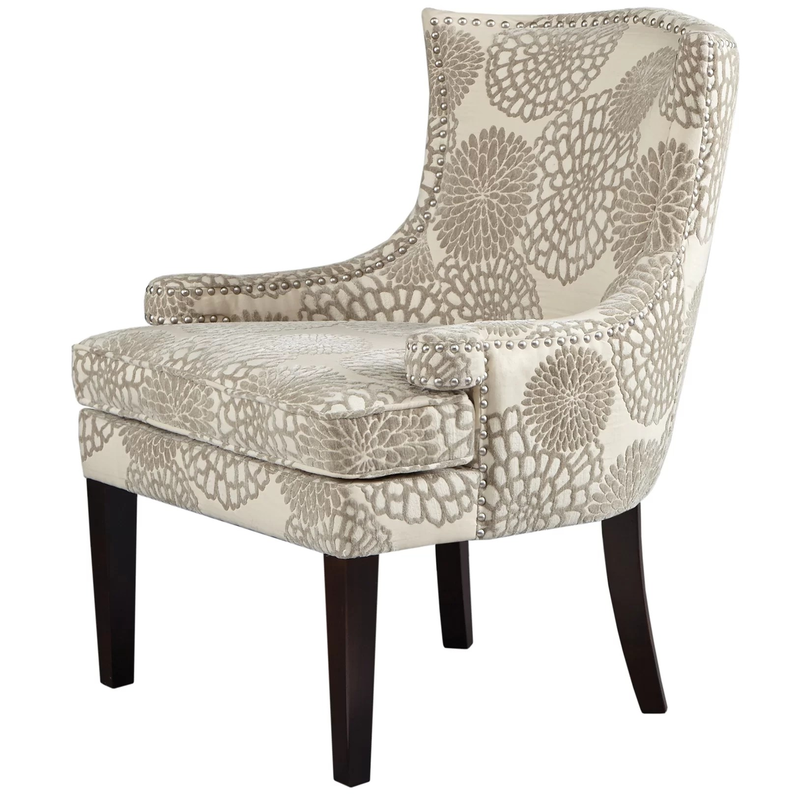 Floral Chairs Madison Park Signature Floral Wingback Chair Wayfair