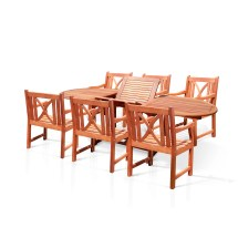 Vifah Patio 7 Piece Dining Set &