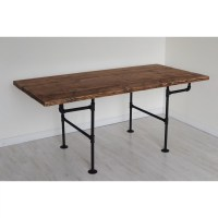 BrandtWorksLLC American Iron Pipe 6 Foot Dining Table ...