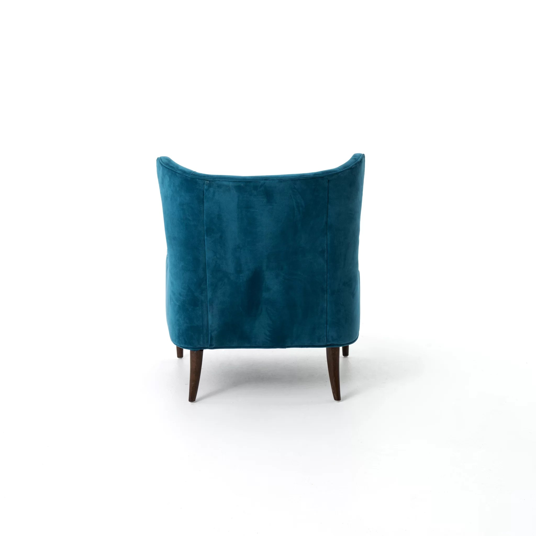 Blue Velvet Wingback Chair Design Tree Home Velvet Blue Marlow Wingback Chair