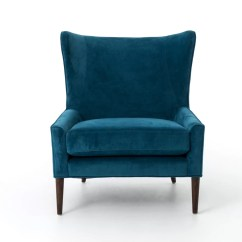 Velvet Chair Design Cream Office Tree Home Blue Marlow Wingback