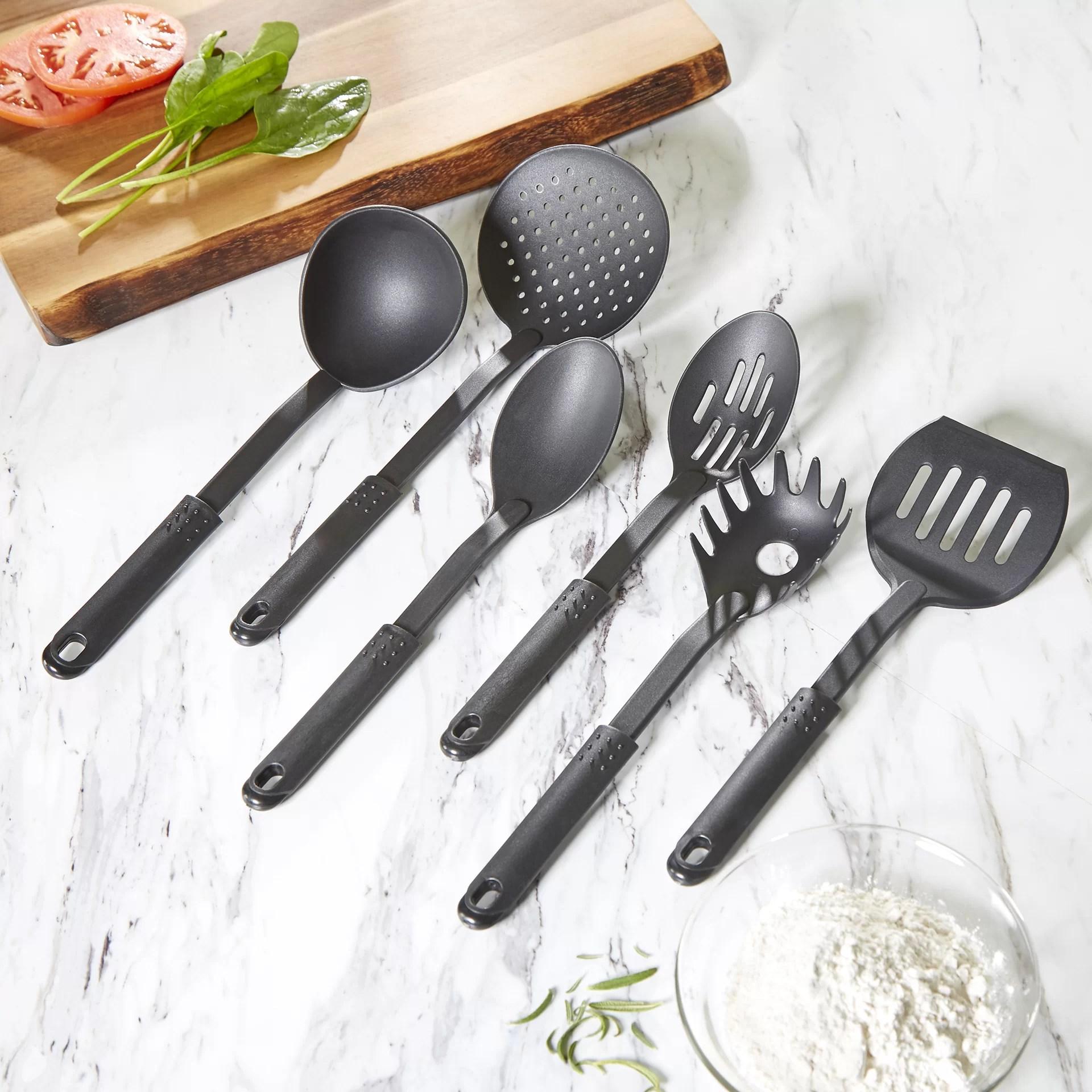 kitchen utensil set premium cabinets manufacturers wayfair basics 6 piece