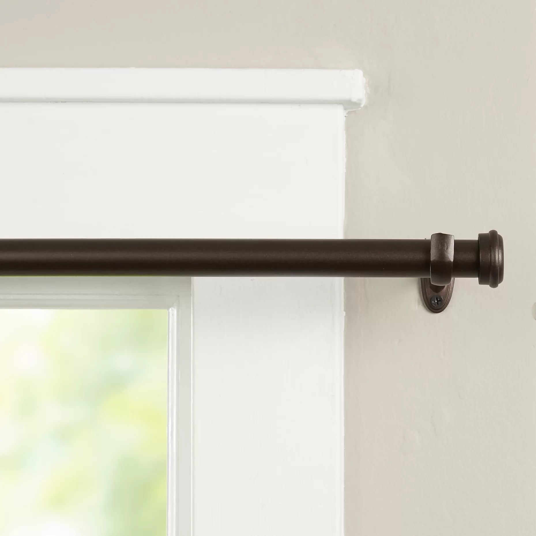 Wayfair Basics Wayfair Basics End Cap Single Curtain Rod  Hardware Set  Reviews  Wayfair