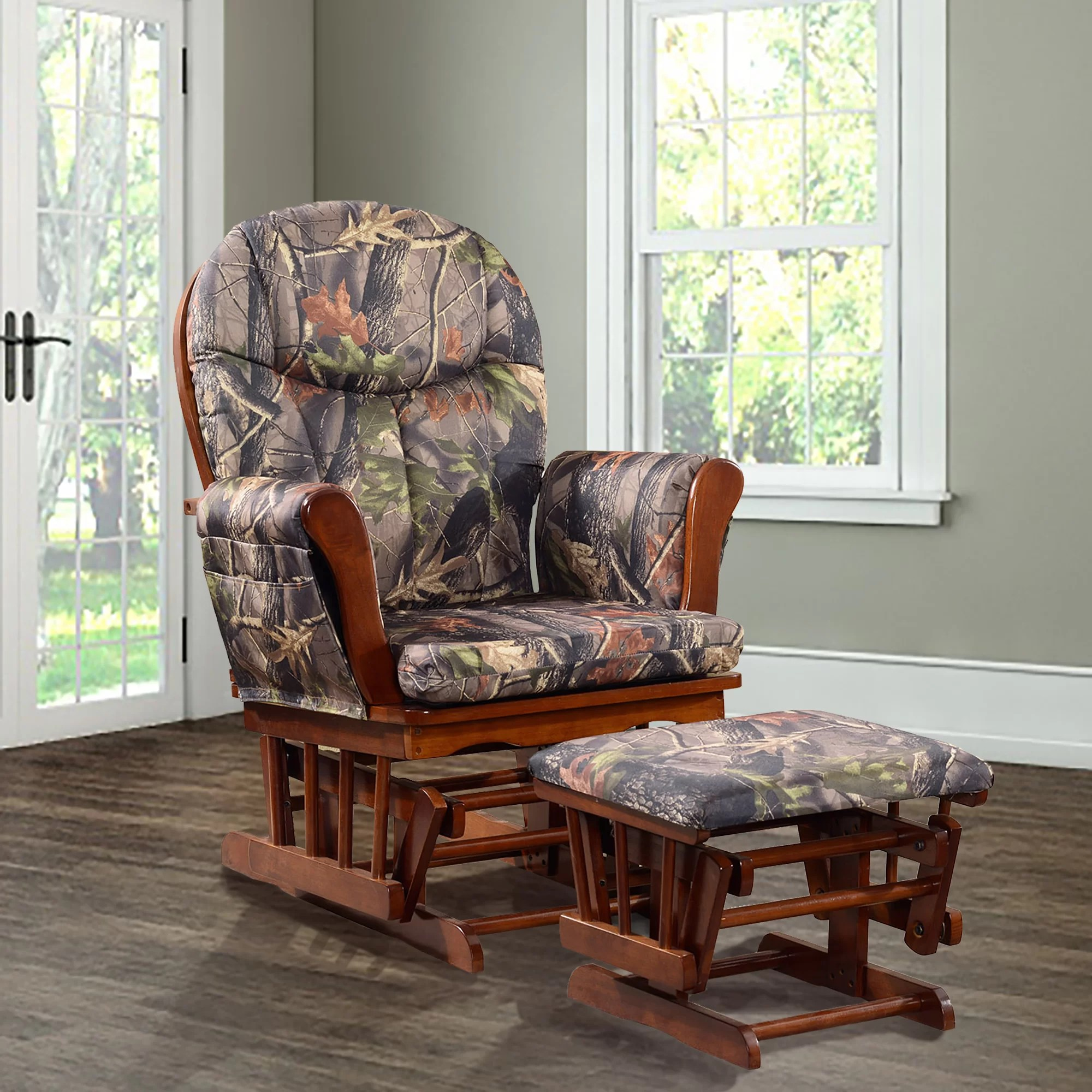 rocking chair christmas covers for sale in pretoria artiva usa home deluxe camouflage glider and ottoman