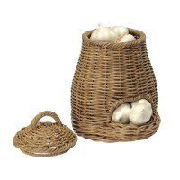 Kouboo Wicker Garlic - Fruit and Vegetable Storage Basket ...