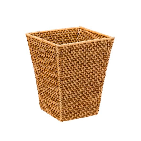 Kouboo Square Rattan Waste Basket &