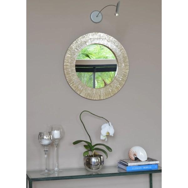 Kouboo Capiz Seashell Sunray Wall Mirror &