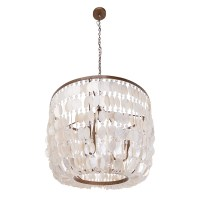 Kouboo Capiz 3 Light Inverted Pendant | Wayfair