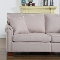 Madison Home USA Classic Living Room Linen Fabric Sofa ...