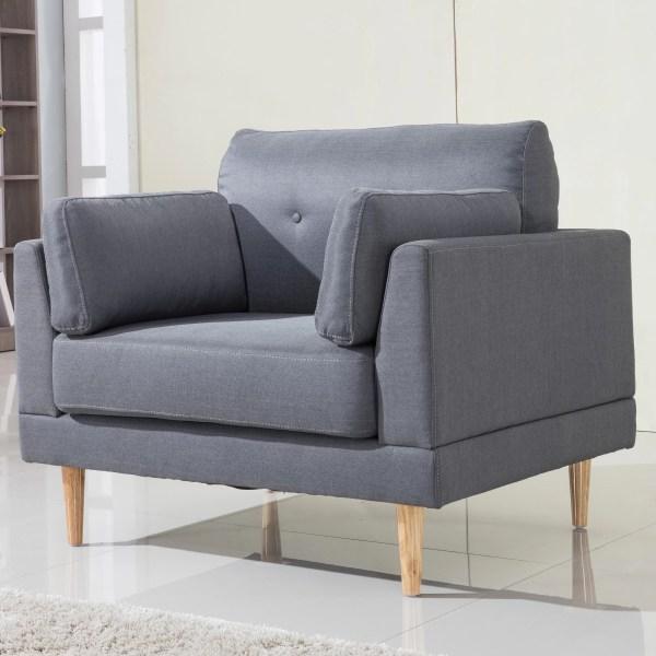 Linen Fabric Club Chair